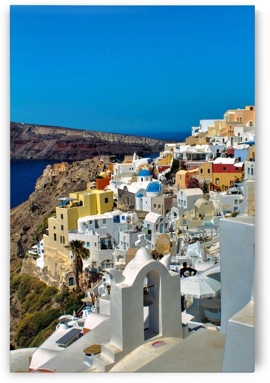 Santorini Colourful  Landscape - Greece by Bentivoglio Photography