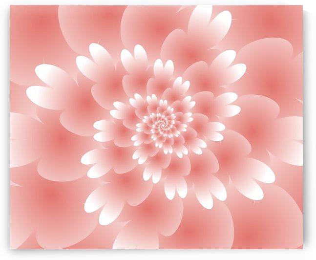Shiny Orange Floral Art by rizu_designs
