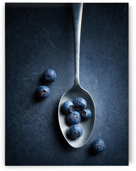 Blueberries on spoon Still Life by Johan Swanepoel
