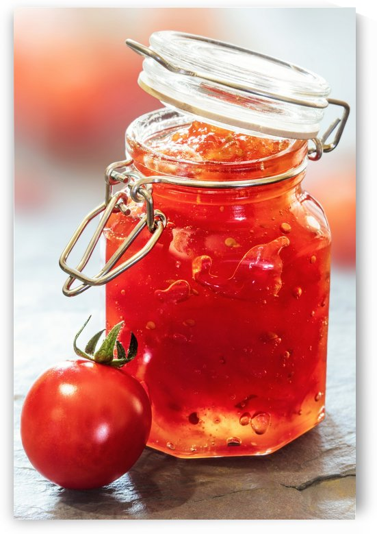 Tomato Jam in Glass Jar by Johan Swanepoel