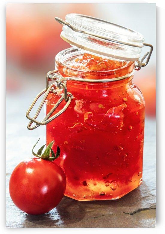 Tomato Jam in Glass Jar by Johan Swanepoel