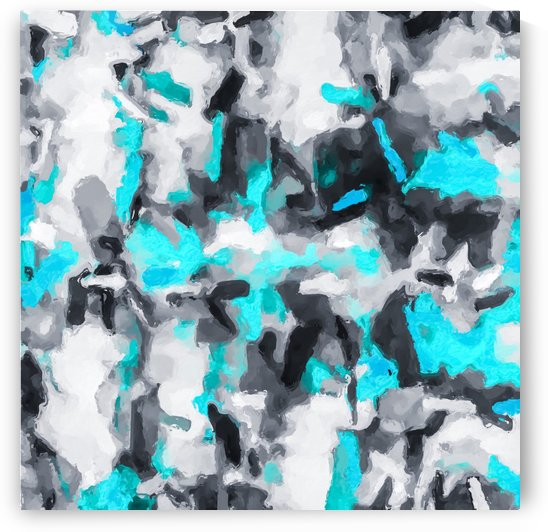 splash painting texture abstract background in blue and black by TimmyLA