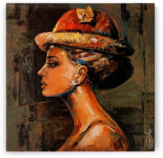 AUDREY-The beauty universe 2 18x18 by Gurdish Pannu India