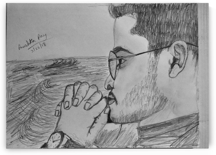 roughly sketched a men photo by Anushka Ray