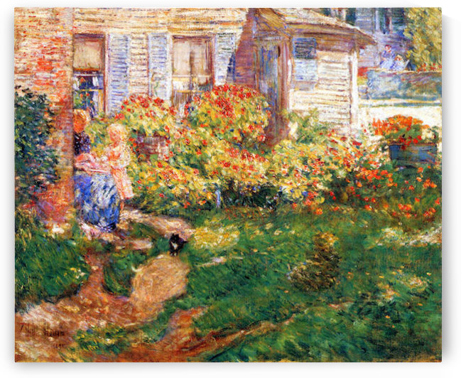 A fishing hut, Gloucester by Hassam by Hassam