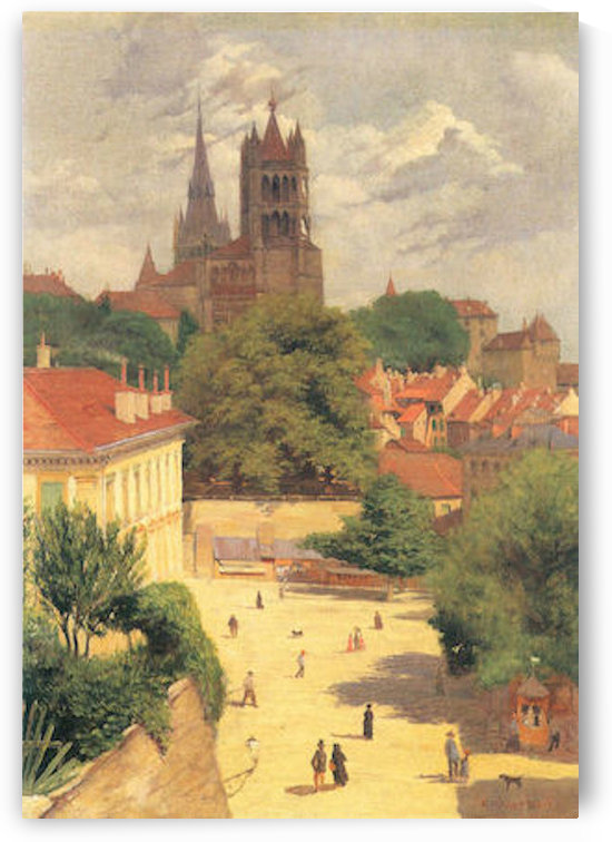 View of Lausanne by by Felix Vallotton by Felix Vallotton