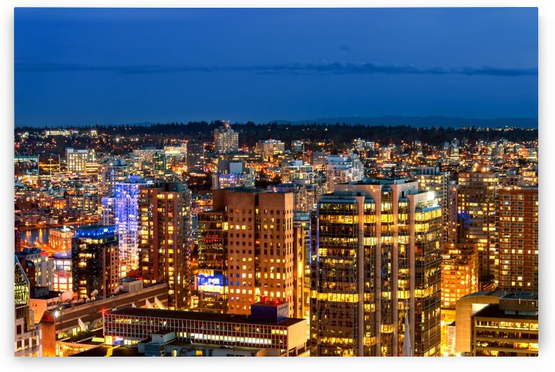 Shoot from above the beautiful night in metropolis by Viktor Birkus
