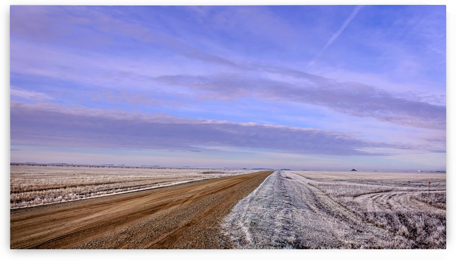 Winter road by Viktor Birkus
