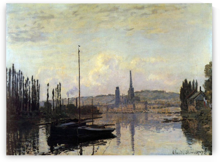 View of Rouen by Monet by Monet
