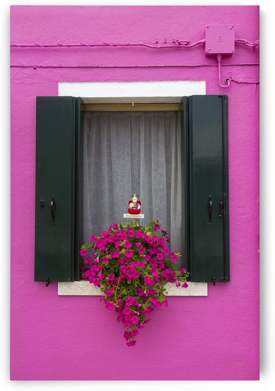 Colored window in Burano by Pietro Ebner