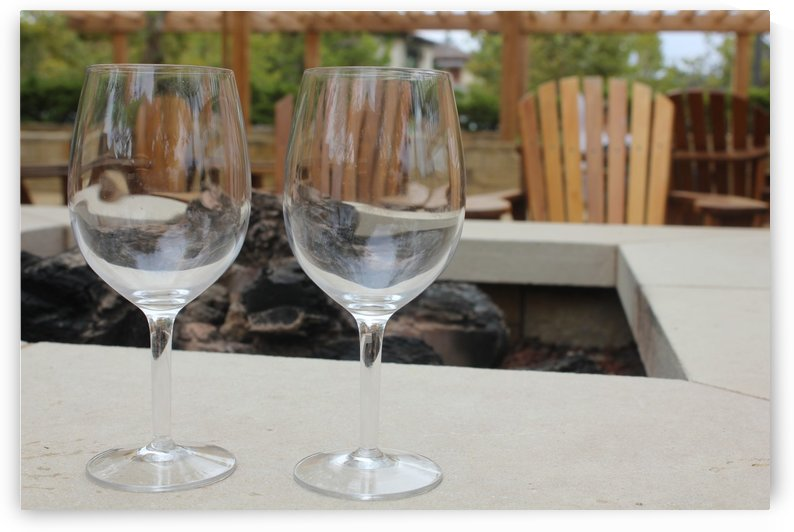 Wineglasses by Firepit by Chris Roberts Design