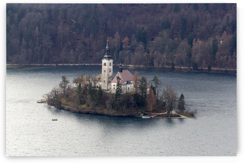 Lake and island of Bled by Pietro Ebner