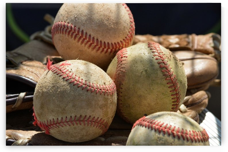Baseballs and Glove by Leah McPhail