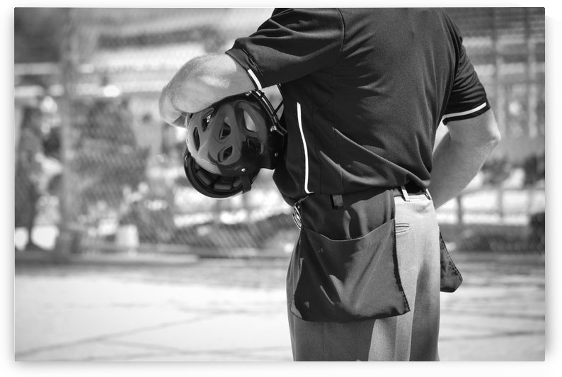 Umpire in Black and White by Leah McPhail