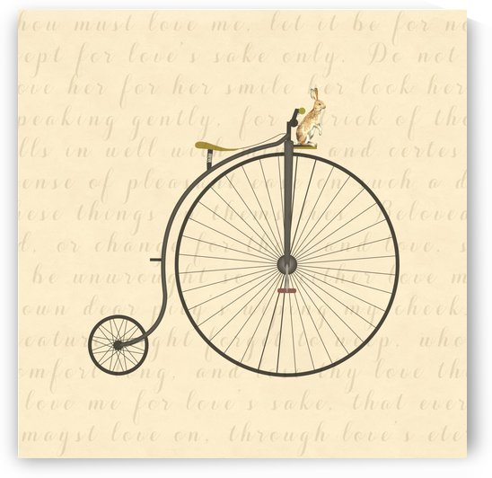 Vintage Penny Farthing Bunny by Leah McPhail