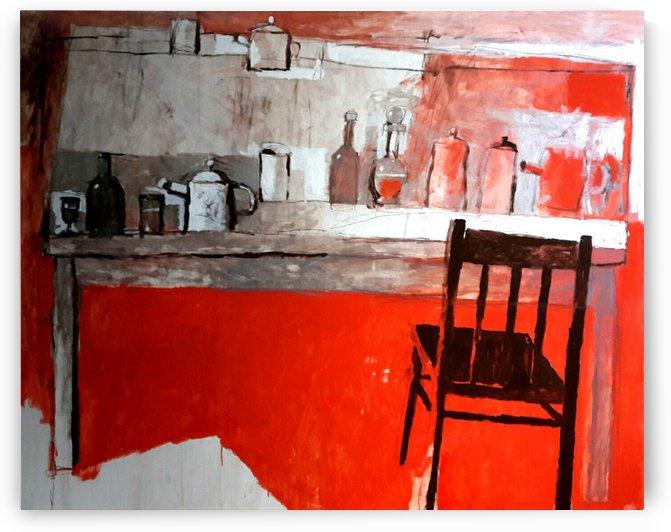 Still Life with a Chair by Zurab Gikashvili