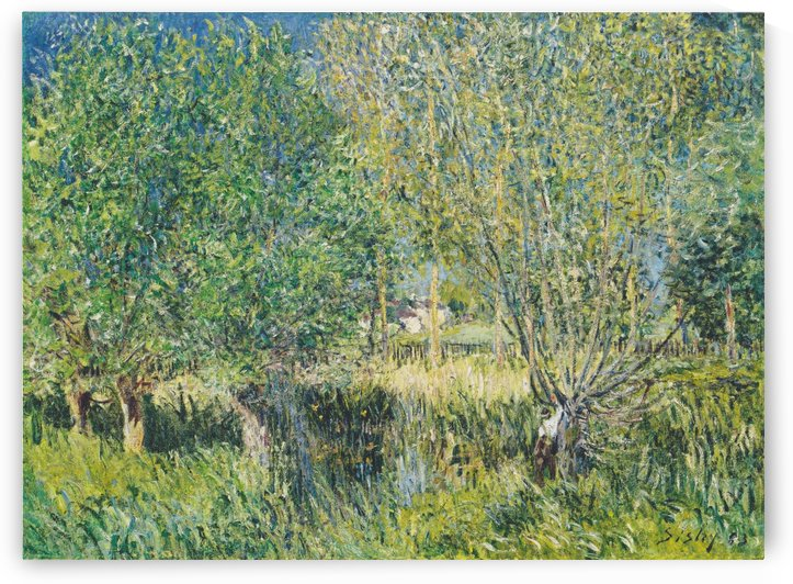 Pasture on the banks of the Orvanne by Alfred Sisley