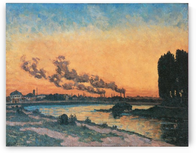 Soleil couchant a Ivry by Armand Guillaumin