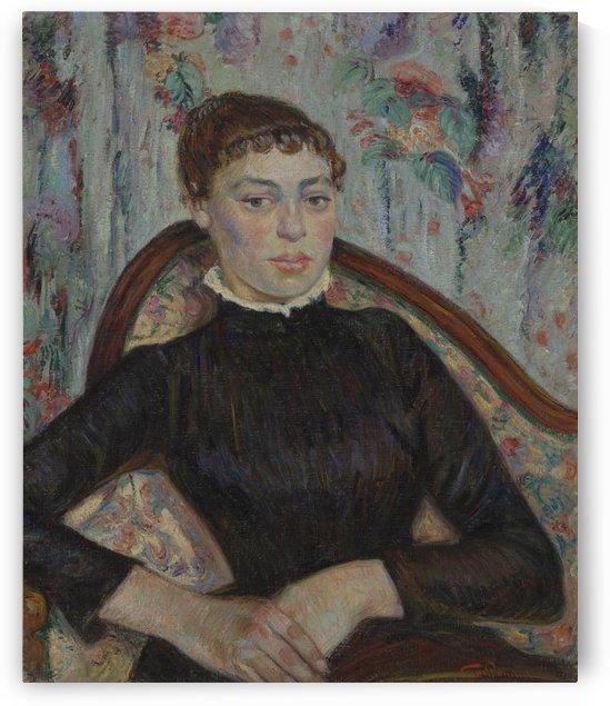 Portret van een jonge vrouw by Armand Guillaumin