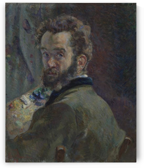 Zelfportret met palet by Armand Guillaumin