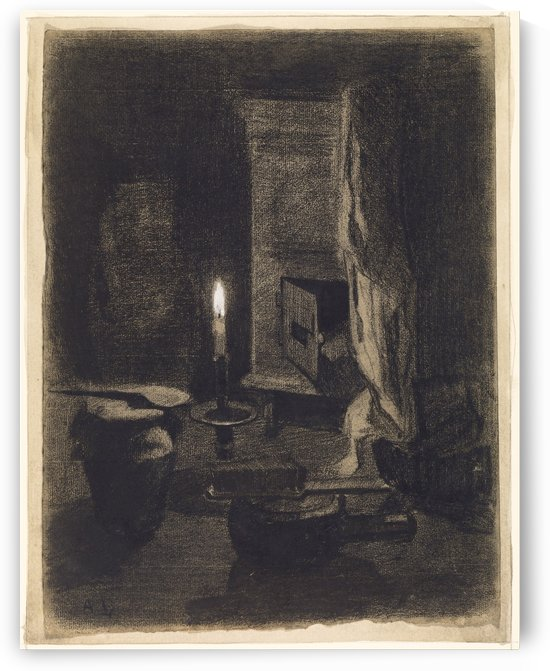 Still Life with Candle by Albert Lebourg