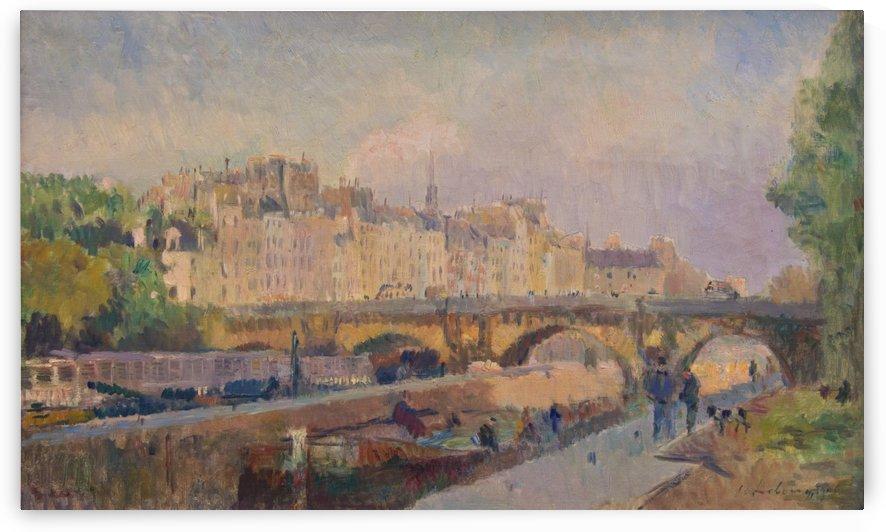 Paris le pont Neuf by Albert Lebourg