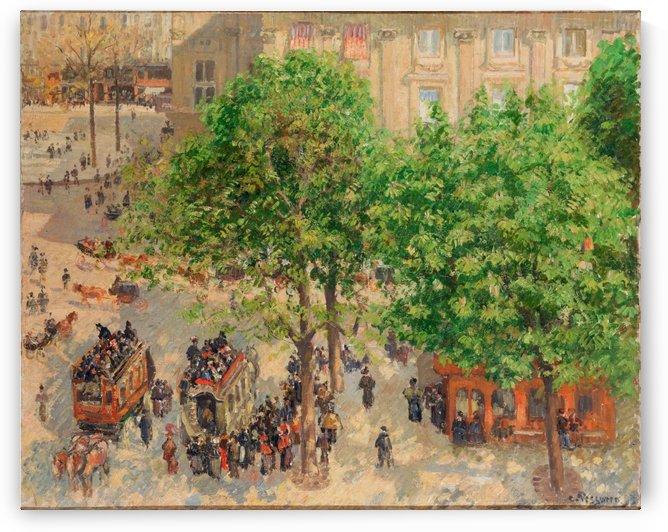 Place du Theatre Francais a Paris 1898 by Camille Pissarro