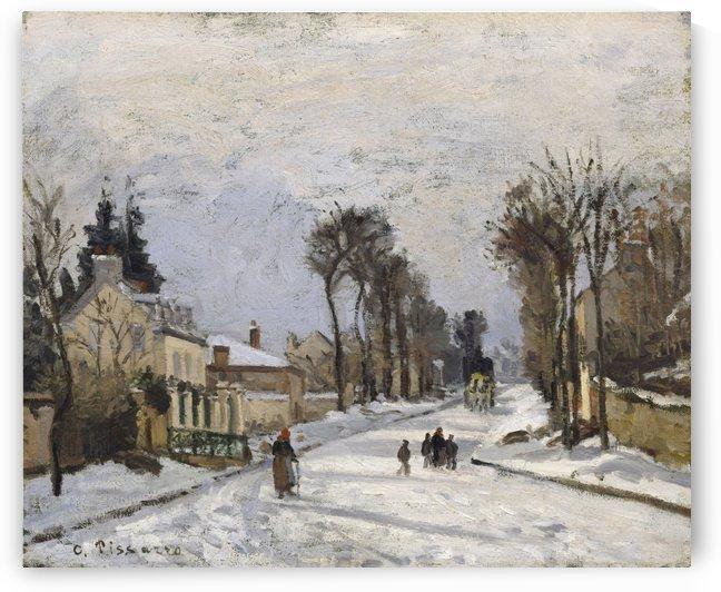 Rue de Versailles a Louveciennes 1868 by Camille Pissarro