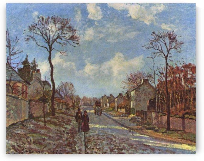 Louveciennes la route de Versailles 1870 by Camille Pissarro