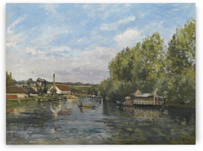 La Seine a Port-Marly circa 1872 by Camille Pissarro