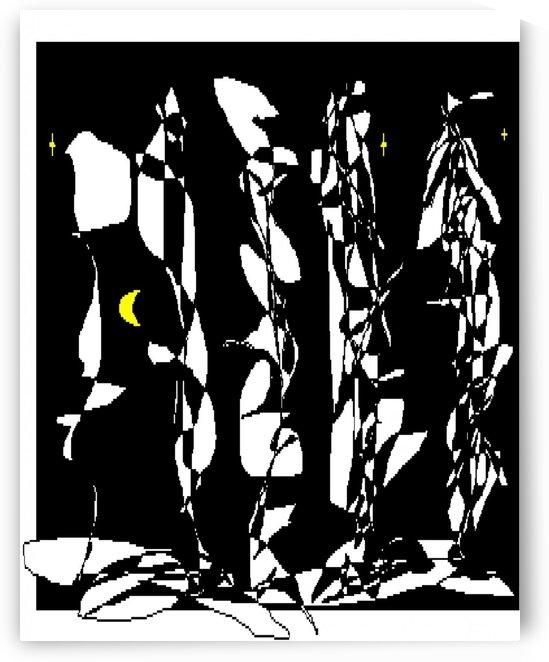 Art 14 Night forest by Dragan Mrkalj