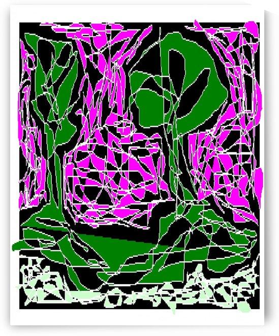 Art 29 Trees in pink dusk by Dragan Mrkalj