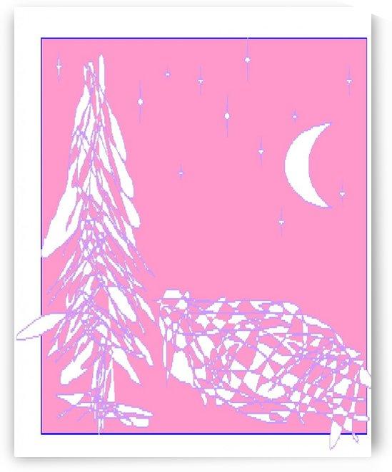 Art 32 Snow Hill under the Moon by Dragan Mrkalj
