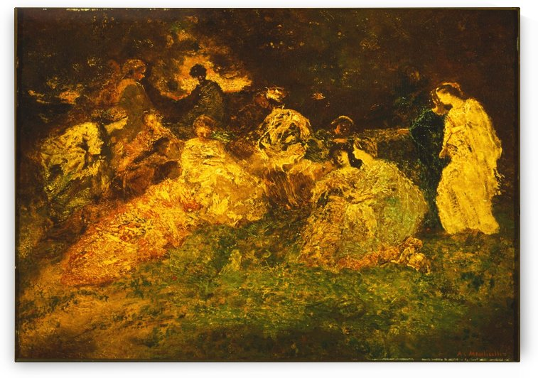 Fete Champetre by Adolphe Monticelli