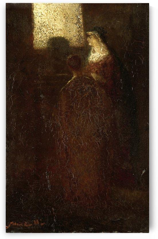 Aan het altaar by Adolphe Monticelli