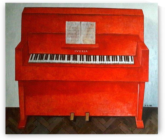 Red Piano by Zurab Gikashvili