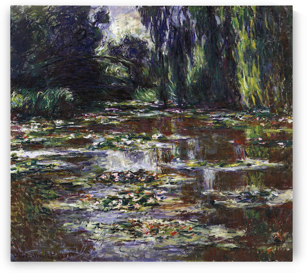 Water lilies, water landscape #3 by Monet by Monet