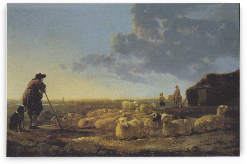 Schafherde auf der Weide by Aelbert Cuyp