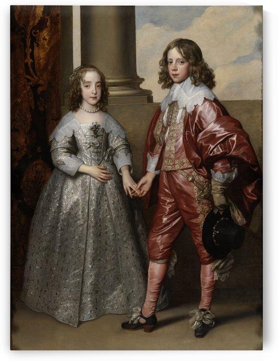 Portrat des Wilhelm von Oranien als Prinz mit seiner zuknftigen Braut Maria Stuart by Anthony van Dyck