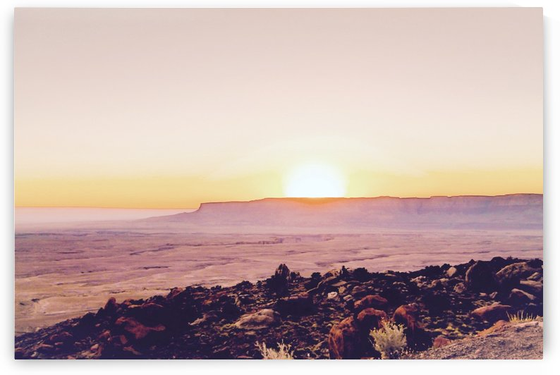 summer sunset over the mountain in the desert in Utah USA by TimmyLA