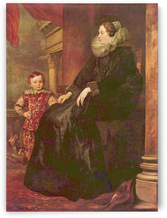 Portrait of Paolina Adorno by Anthony van Dyck