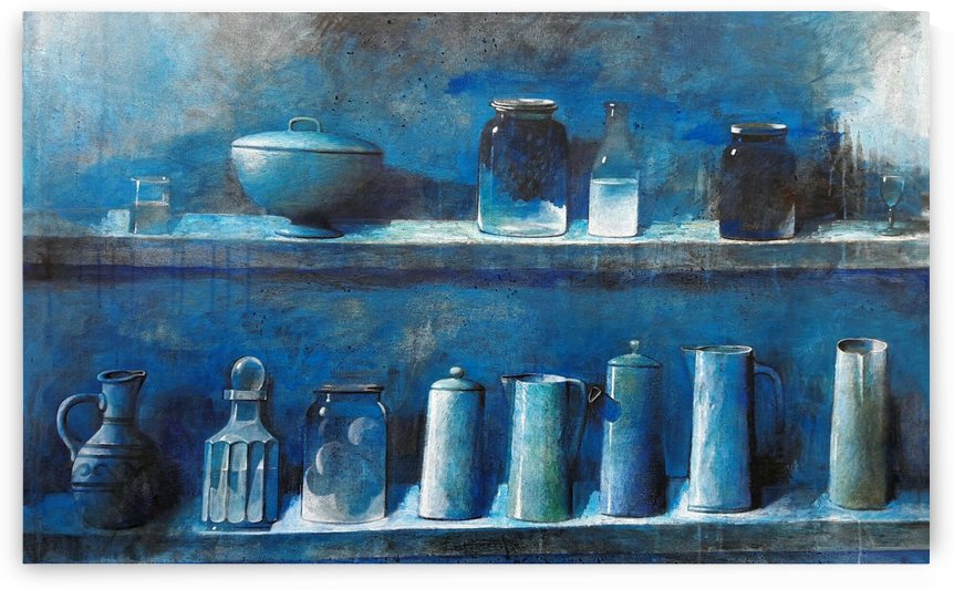 Kitchen in Blue  by Zurab Gikashvili