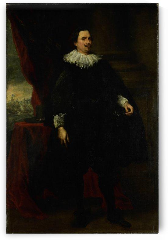 Portret van een man uit de familie van der Borght by Anthony van Dyck