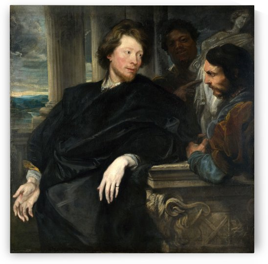George Gage with Two Men by Anthony van Dyck