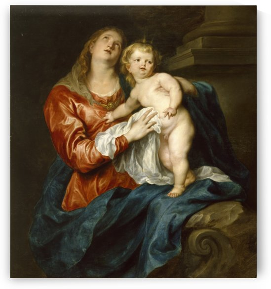 Virgin and Child - Walters by Anthony van Dyck