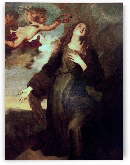 Santa Rosalia incoronata dagli angeli by Anthony van Dyck