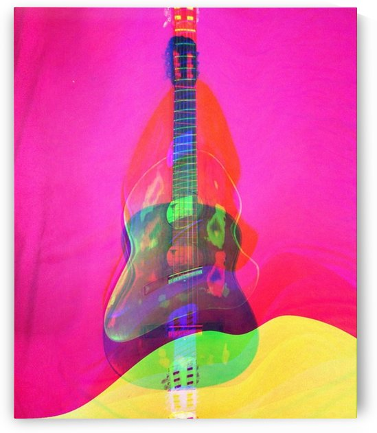 Guitar on Pink  by MIRIAM