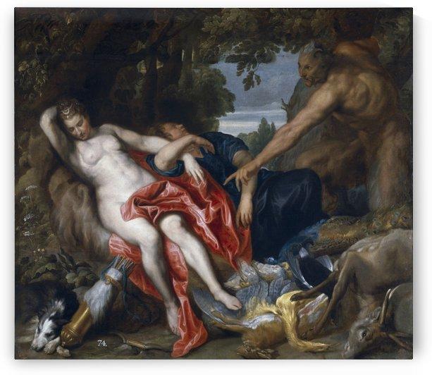 Diana y una ninfa by Anthony van Dyck