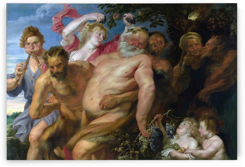 Drunken Silenus supported by Satyrs by Anthony van Dyck