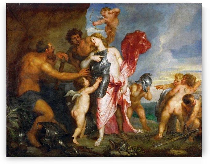 Thetis empfangt von Hephaistos die Waffen fur Achill by Anthony van Dyck